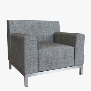 hbf bianco lounge chair 3D model
