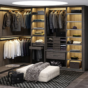 poliform senzafine wardrobe - 3D model