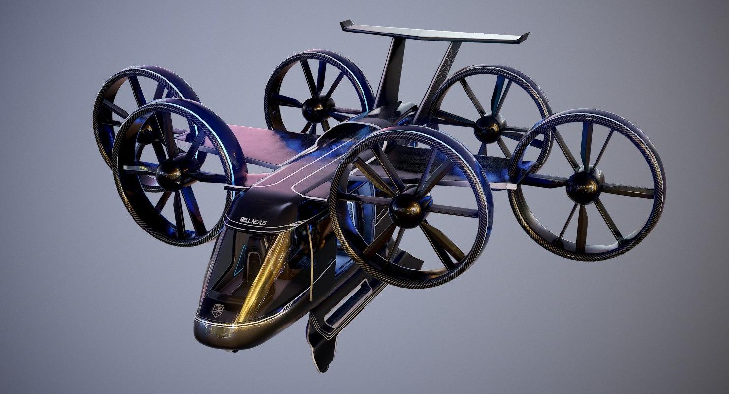 3D model bell nexus flying taxi
