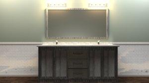vanity cabinet 3D