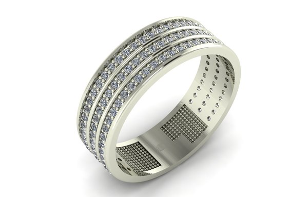 ring wedding band 3D model