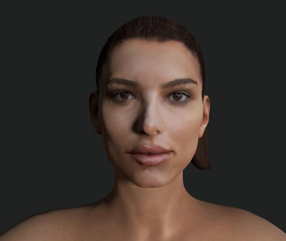 emily ratajkowski modeled 3D model