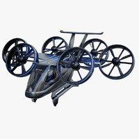 3D bell nexus flying taxi model