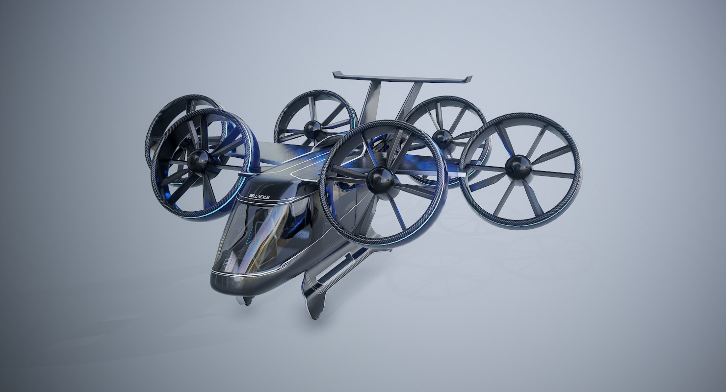 3D bell nexus flying taxi model