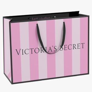 3D victoria secret shopping bag