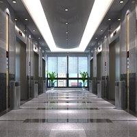 elevator lobby scene model