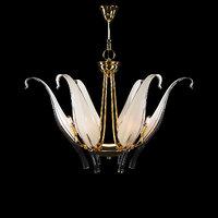 vintage chandelier murano glass 3D