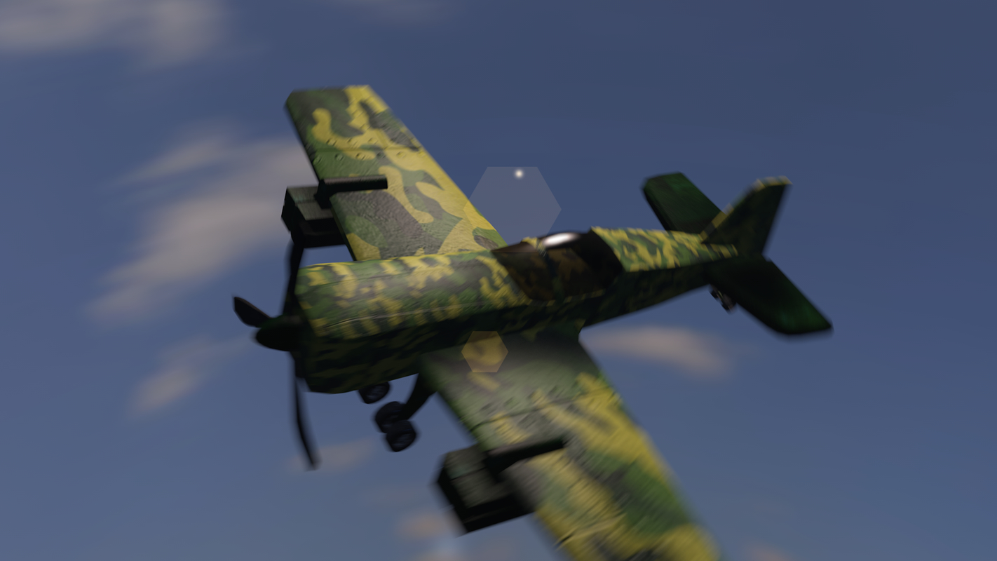 3D model plane military small