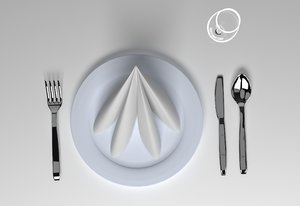 3D table set linen napkin