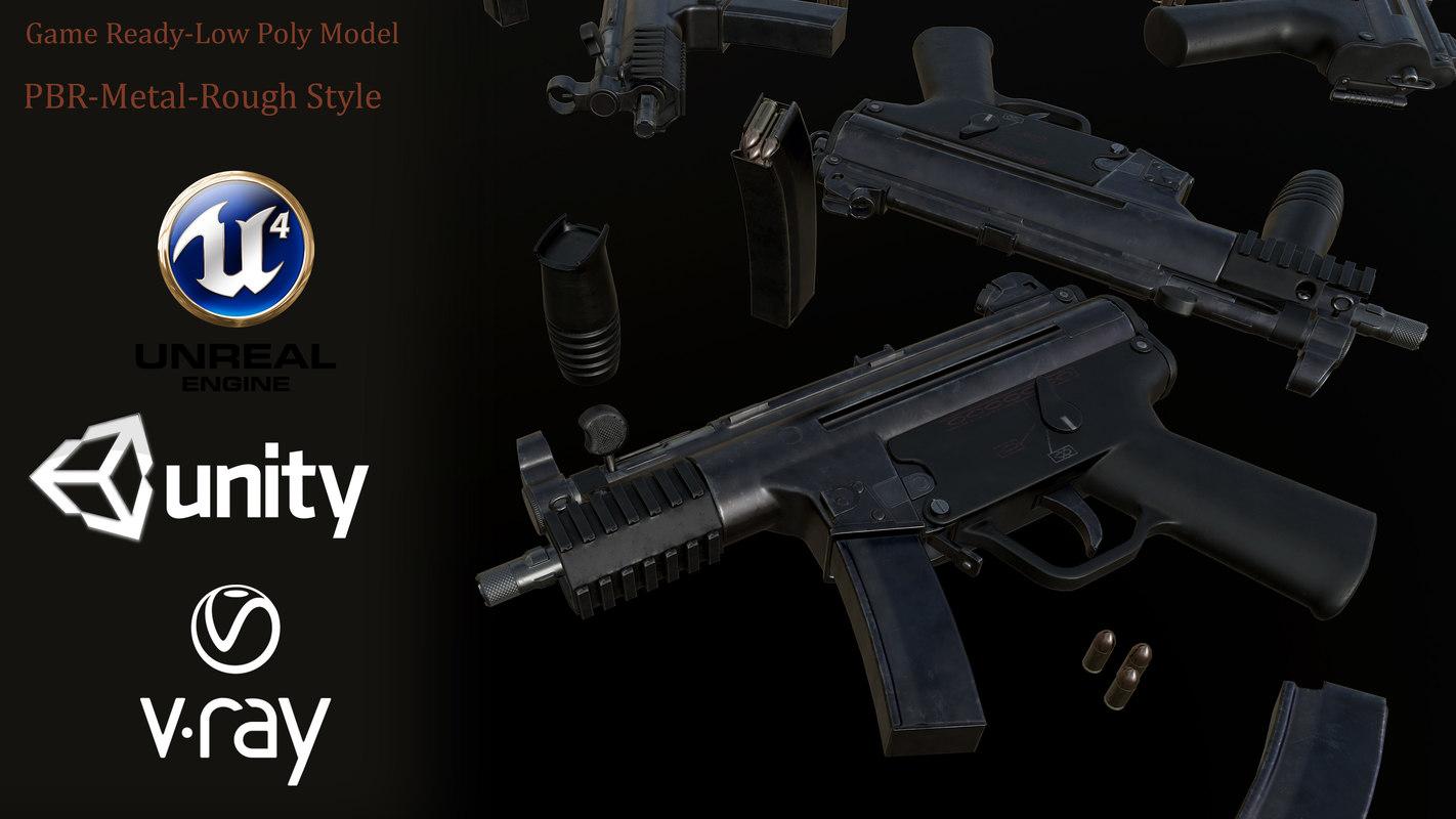 3D mp5 hk smg model