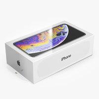 Apple iPhone Xs Box 3D Model