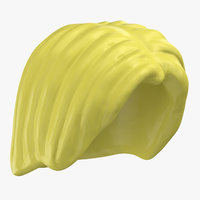 lego hair 01 blond 3D