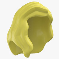 lego hair 02 blond 3D model
