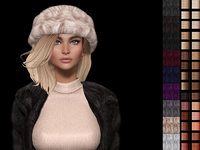 Areta 3d mesh hair with hat