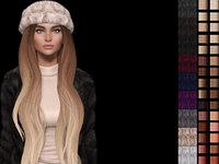 Bessie 3d mesh hair with hat