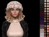 Consuela 3d mesh hair with hat rigged