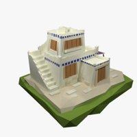 3D ancient greece house