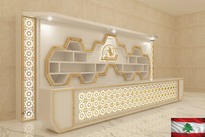counter interior scene 3D