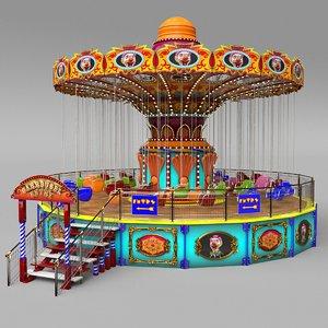 carrousel chain 3D model
