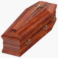 3D coffin 02 model
