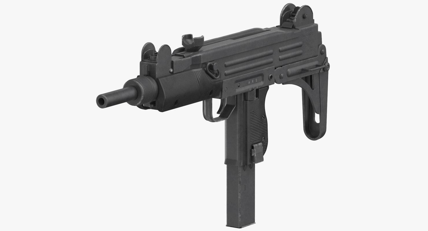 Submachine Gun Uzi Model