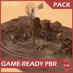 3D pack wild west props