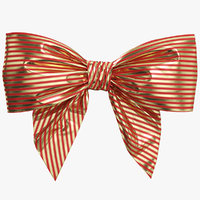 3D red gold bow 06