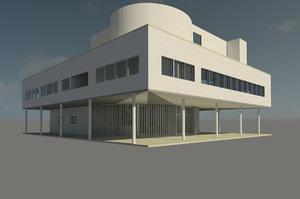 villa savoye 3D model