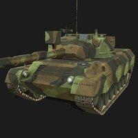 leopard 2 battle tank 3D
