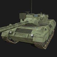 leopard battle tank 3D model