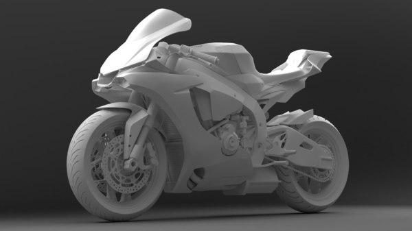 3D bike yamaha yzf r1
