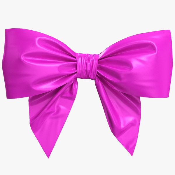 3D purple bow