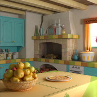 kitchen scene 3D