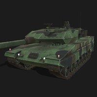 3D leopard 2a5 battle tank