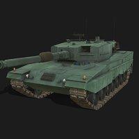 3D leopard 1 battle tank