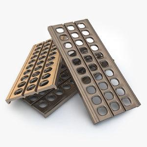 sand ladders metal walkway 3D model