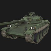 3D type-74 battle tank