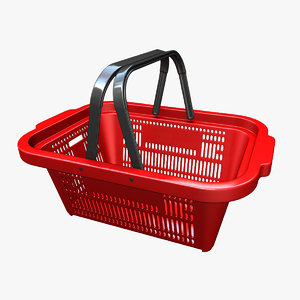 plastic shopping basket 3D model