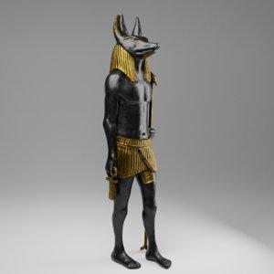 statue anubis vfx games 3D model