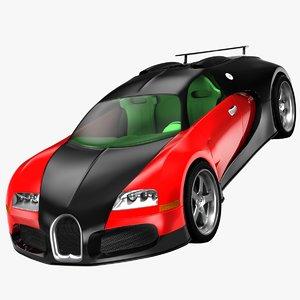 bugatti veyron 3d 3ds