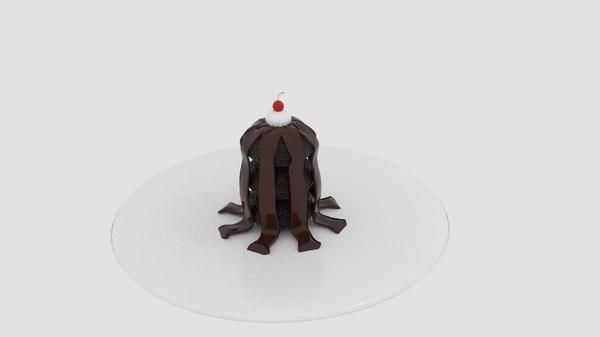 3D chocolate tower cake