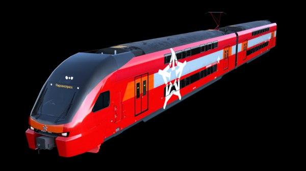 stadler kiss aeroexpress 3D model