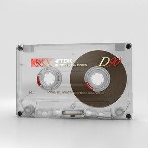 cassette transparent 3D model