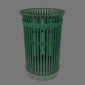 public trashcan 3D