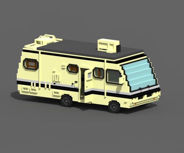3D model voxel caravan