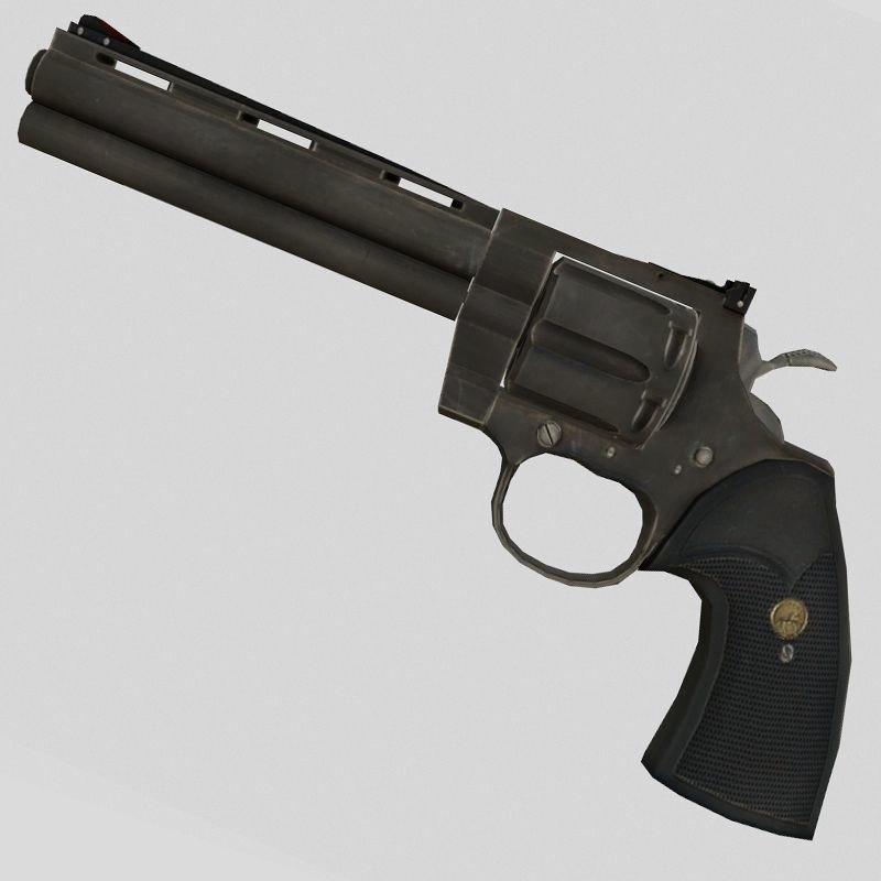revolver magnum 3D model