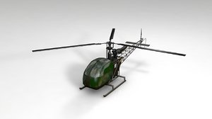 3D helicopter transport aircraft model