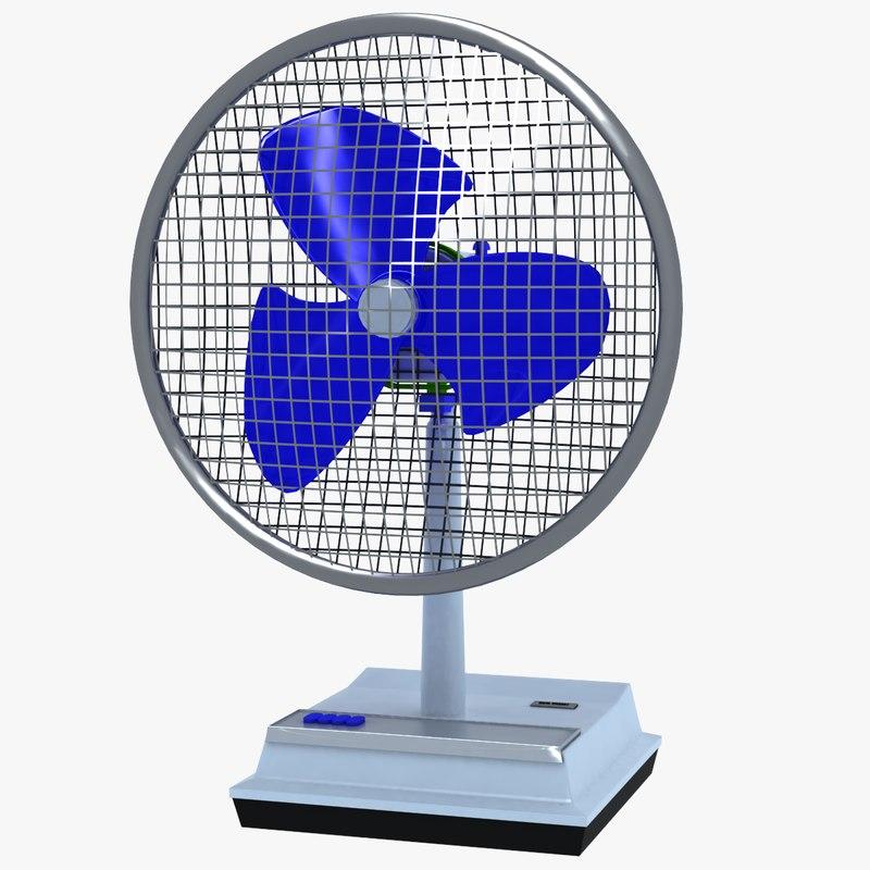 3d simple fan model