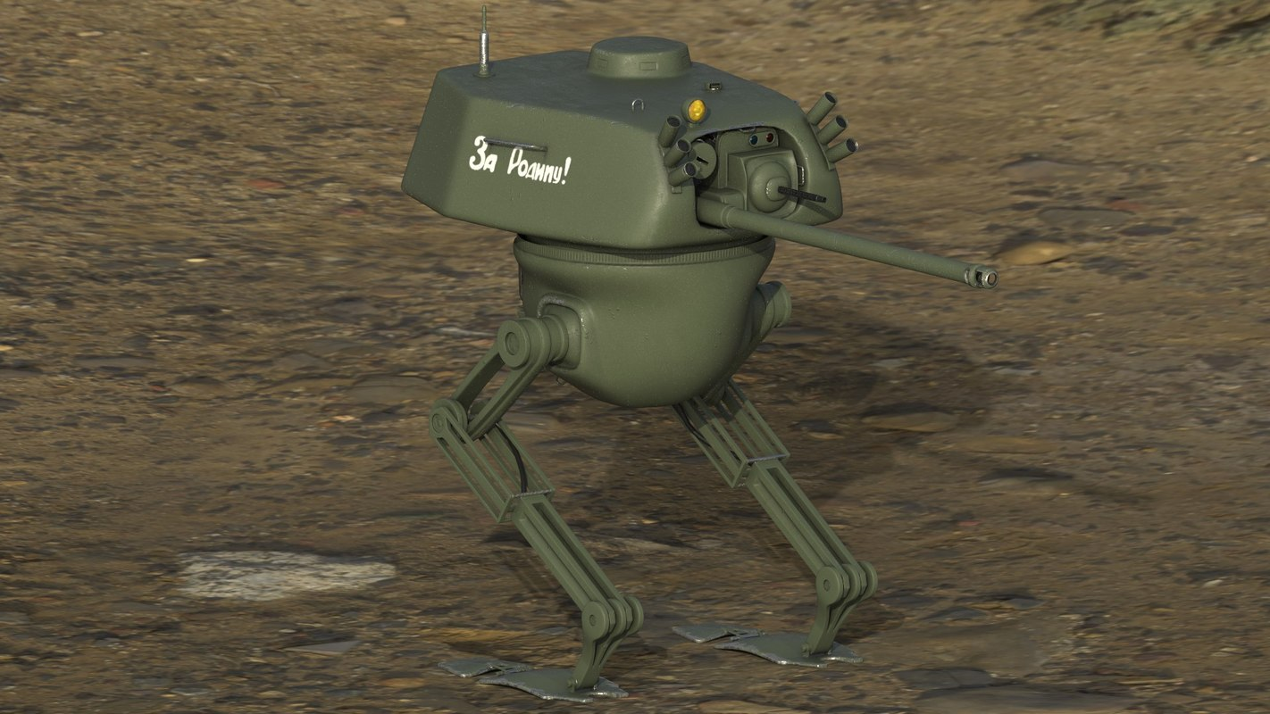 rigged soviet mech 3D model