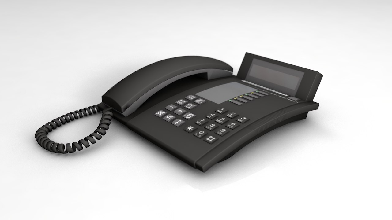3D corded telephone answering machine